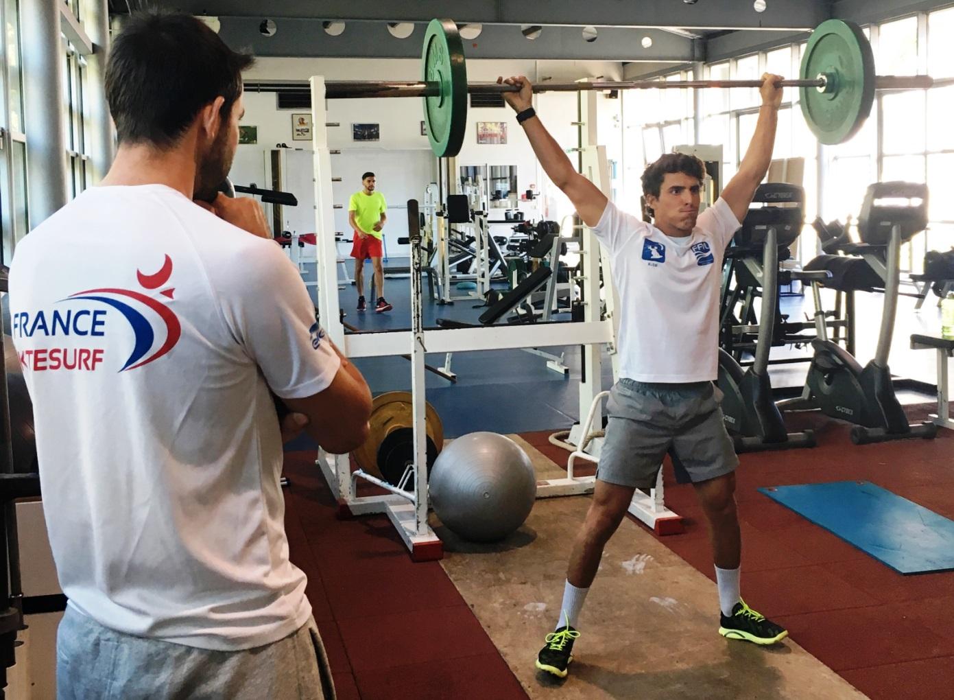 Paul Serin en préparation physique - © Romaric Linares