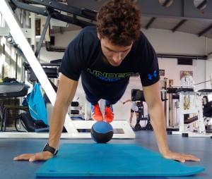 Paul en préparation physique avant la compétition - © Romaric Linares